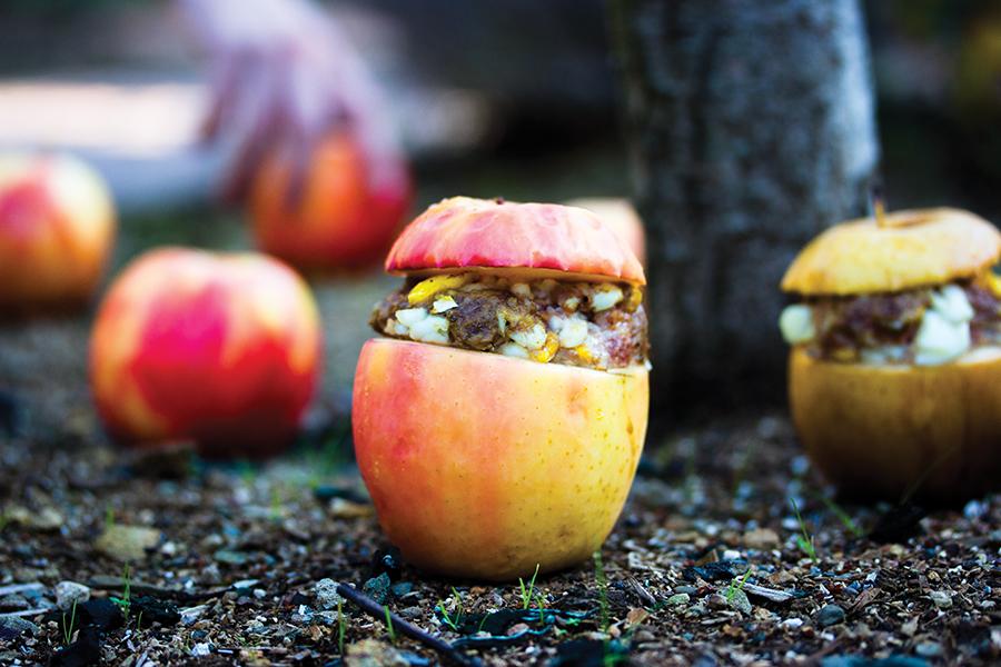 Stuffed apples with minced meat / Wel ende edelike spijse / late 15th century, Belgium (picture inSmaak! Een geschiedenis in 120 recepten)
