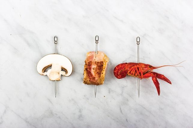 Chicken, crayfish and mushroom / Philippe Edouard Cauderlier, Het Spaerzame Keukenboek / 1861, Belgium (picture inSmaak! Een geschiedenis in 120 recepten)